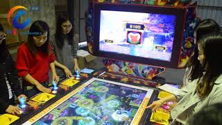 Fortune Light fish game table with jackpot for 2 screen