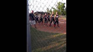 Softball players do the wobble