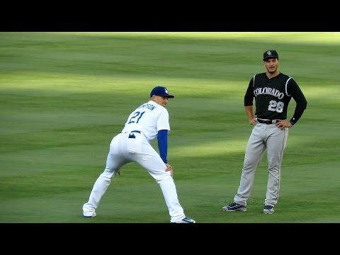 Trayce Thompson & Nolan Arenado Meet @ Dodgers 7-3-16
