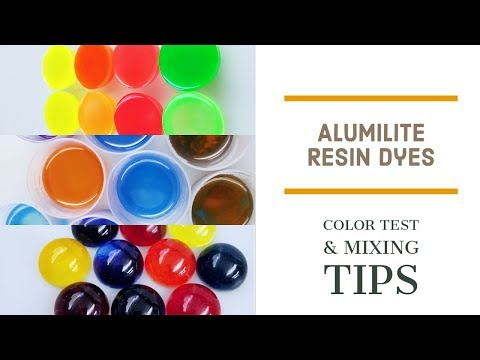 Alumilite Resin Dyes - Color Test & mixing Tips