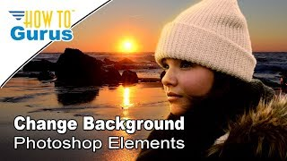 how to use a layer mask to change the background in adobe photoshop elements 15 14 13 12 11 tutorial