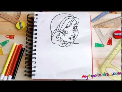 How to draw Princess Anna from Frozen Easy step by step ...