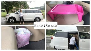 Minivan and Car Organization Hacks!!!