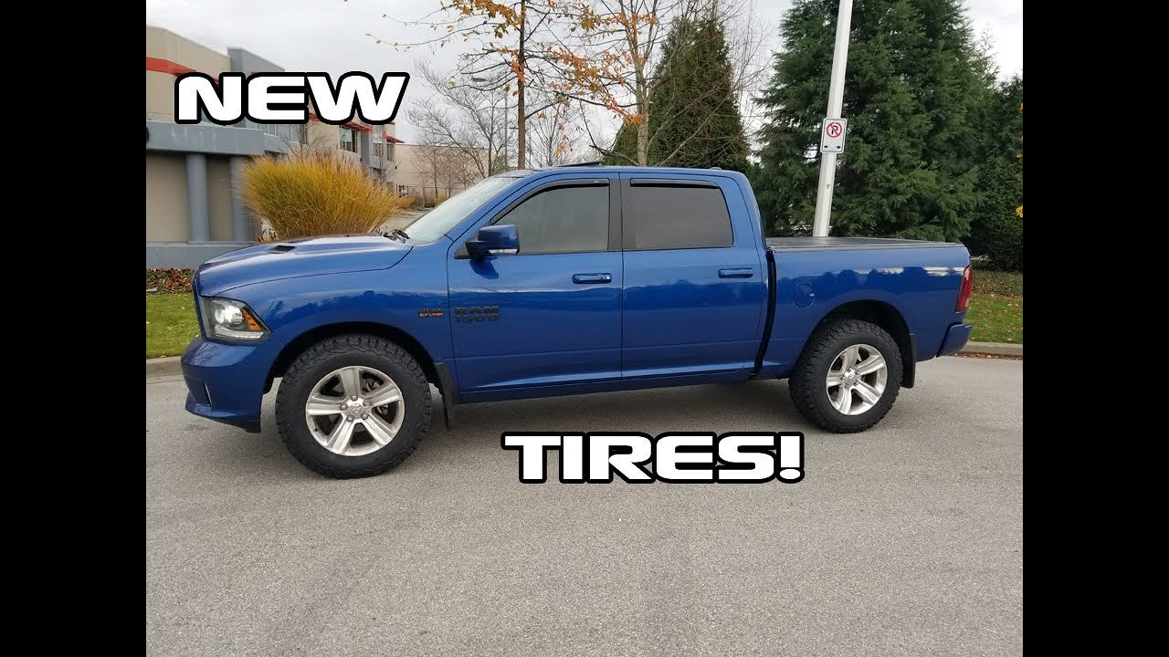 The biggest tires that fit a stock Ram 1500! - YouTube