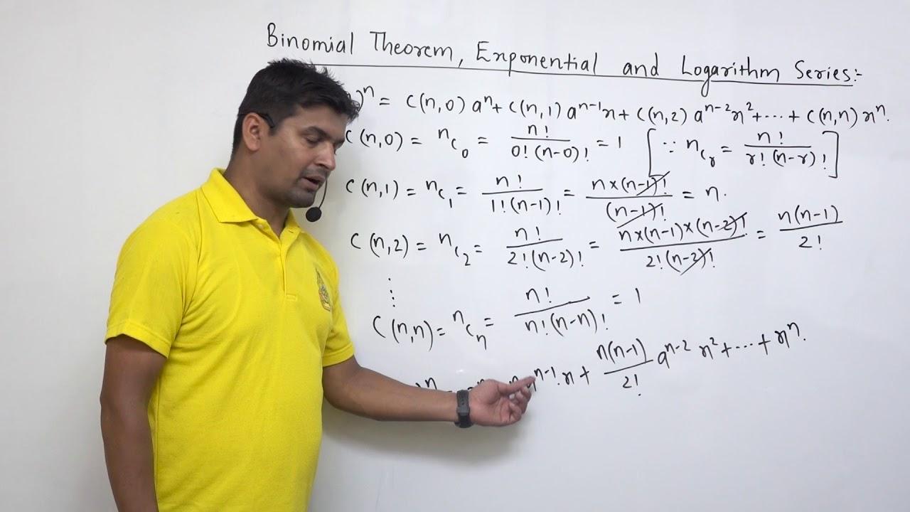 Class 12  Maths Binomial Theorem part 1