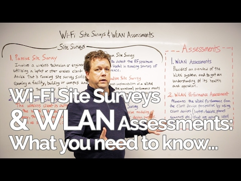 Whiteboard Wednesday: Wi-Fi Site Surveys & WLAN Assessments - What You Need to Know
