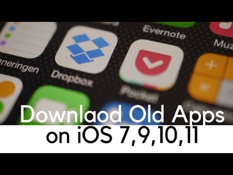 How to download older version of apps in iOS 7 1 2 , 9 3 5, 10, 11