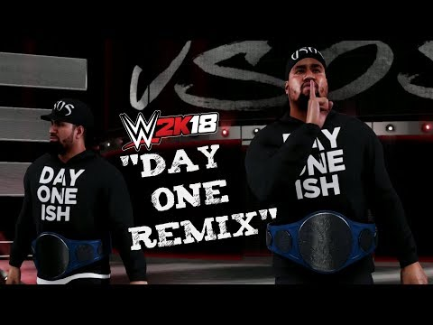 """WWE 2K18 The Usos with """"Day One REMIX"""" Theme Song"""
