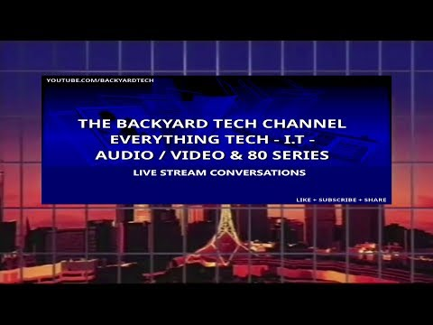 Backyard Tech Live Stream Conversations