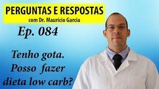 Gota e dieta low carb, pode? Perguntas e respostas com Dr Mauricio Garcia ep 084