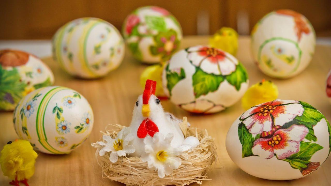 Как украсить пасхальные яйца, своими руками? Декупаж пасхальных яиц, мастер класс.