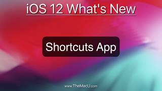 The new Shortcuts App in iOS 12!