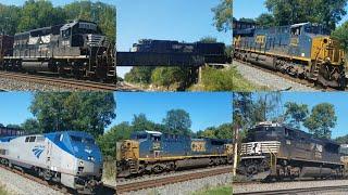 Amtrak, CSX, and Norfolk Southern Trains at Shenandoah Junction, WV