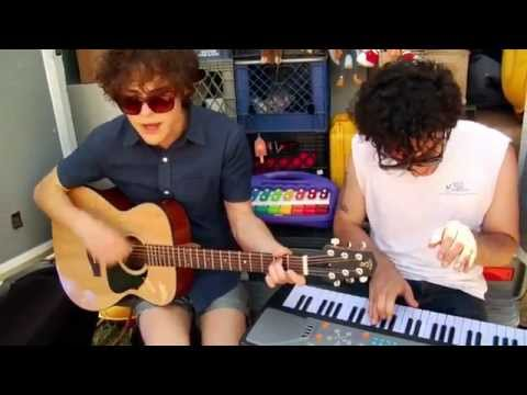 """MGMT """"Pieces of What"""" Live, Acoustic, Bonnaroo 2009 - Road Trippin' with Ice Cream Man"""