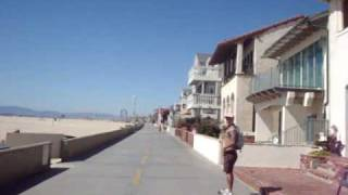 SKATEBOARDING IN HERMOSA BEACH - SOUTH BAY - LOS ANGELES.