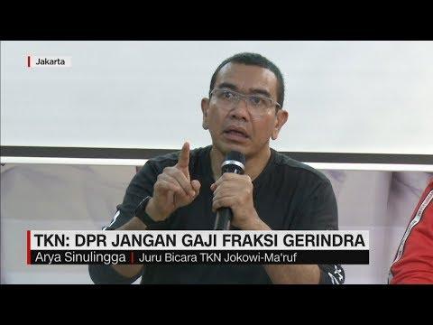TKN Minta DPR Jangan Gaji Gerindra ; Arief Poyuono Serukan Boikot Pajak