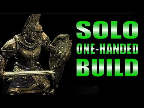 Skyrim SE Remastered Gameplay - Solo One-Handed Warrior