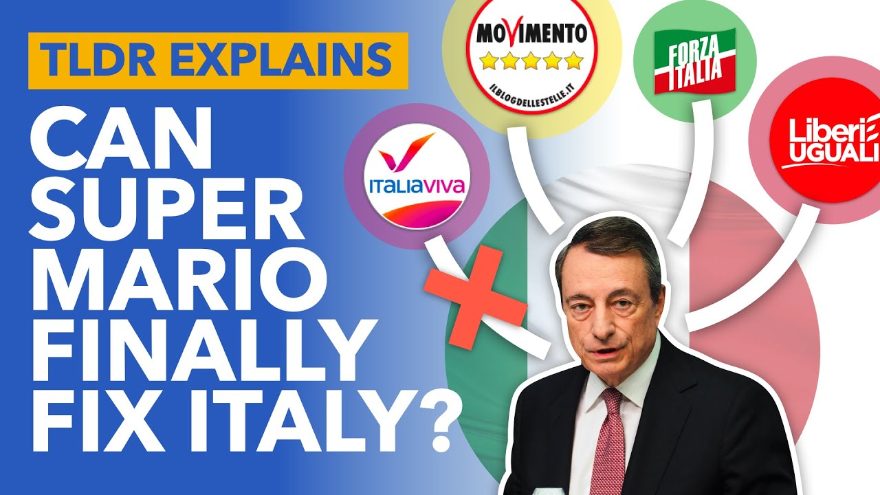 Mario Draghi: Can The Man Who Saved the Euro Now Save Italy?  - TLDR News