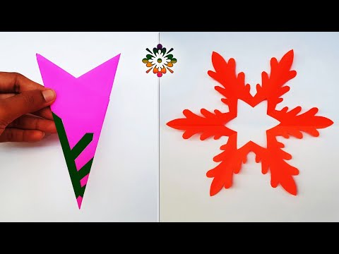 7 Snowflake Ideas for Christmas Decoration || Paper Snowflakes || paper Cutting Ideas