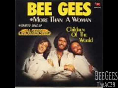 Bee Gees - More Than A Woman (With Lyrics)