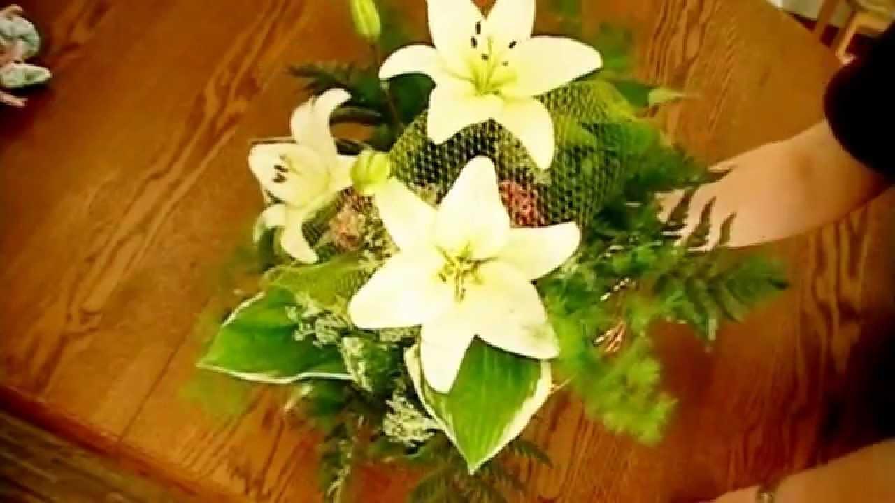 Blumen selber binden Anleitung  YouTube