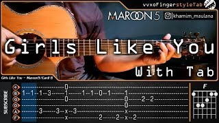 Download Maroon 5 - Girls Like You ft. Cardi B - Cover (Fingerstyle Guitar) With Tab Tutorial | Chord Mp3