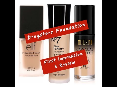 Drugstore Foundation First Impressions &