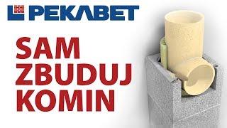 Budowa Komina Pekabet Uniwersal + Komin Kominy System Kominowy