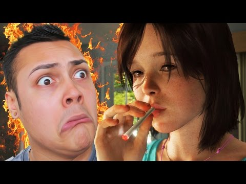 SMOKING WEED AND BURNING DOWN THE HOUSE!!! - Secret Choices (Beyond Two Souls)