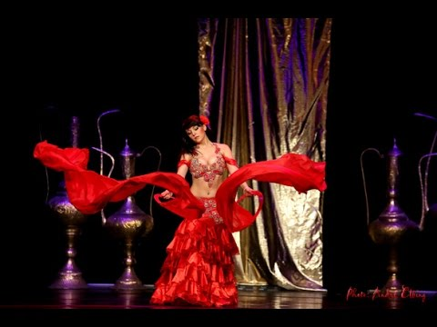 VARDA BELLYDANCE belly-flamenco fusion with ring veils, Orient-Collaboration Show, Warsaw
