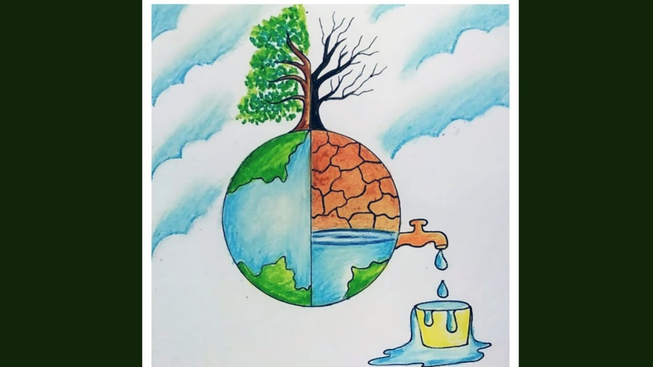 Save Water Save Nature Drawing For Drawing Competition Easy Drawing For World Environment Day Youtube