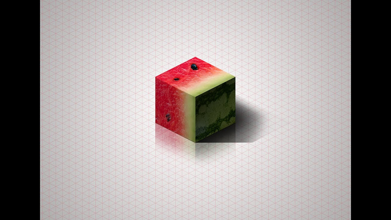Make Isometric Watermelon Cube in Photoshop