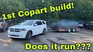 My First Copart Build! Does it Run? What Did We Win!!???