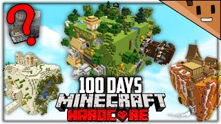 I Survived 100 Days in a CUBE UNIVERSE in Hardcore Minecraft...