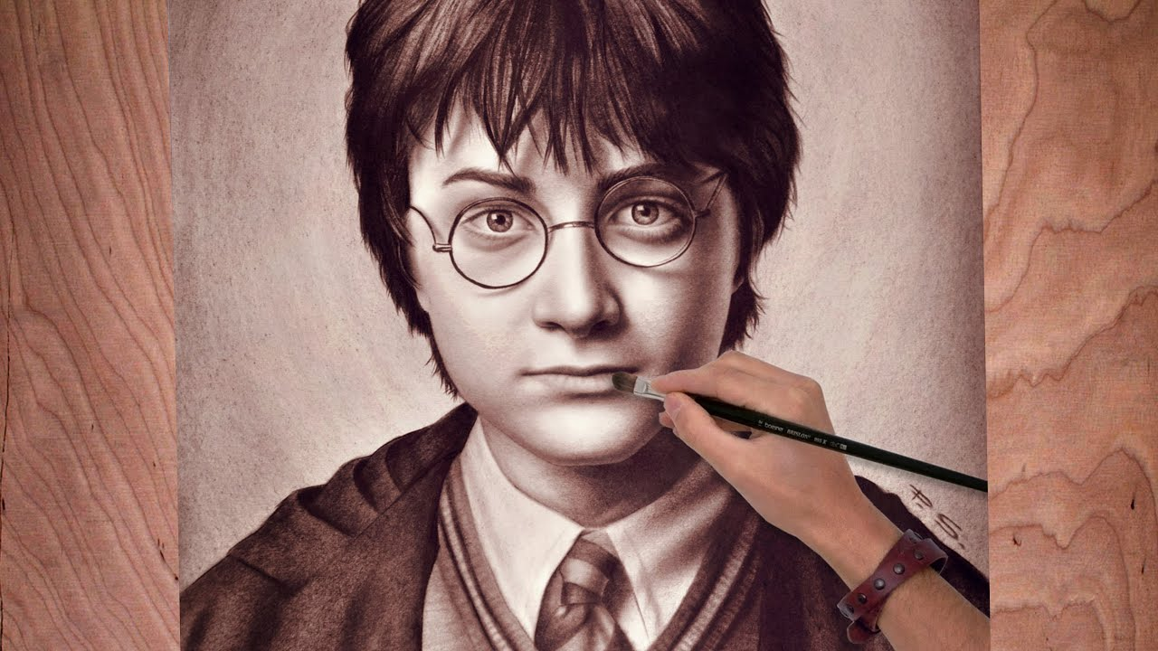How to draw harry potter fast and easy 11
