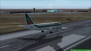 FS2004 - Alitalia A319 landing in Bari, Italy