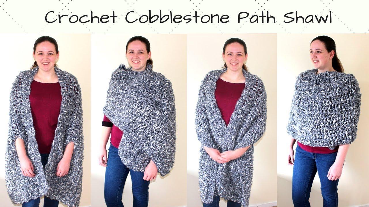 Crochet Oversized Rectangle Shawl - Crochet Cobblestone Path Shawl ...