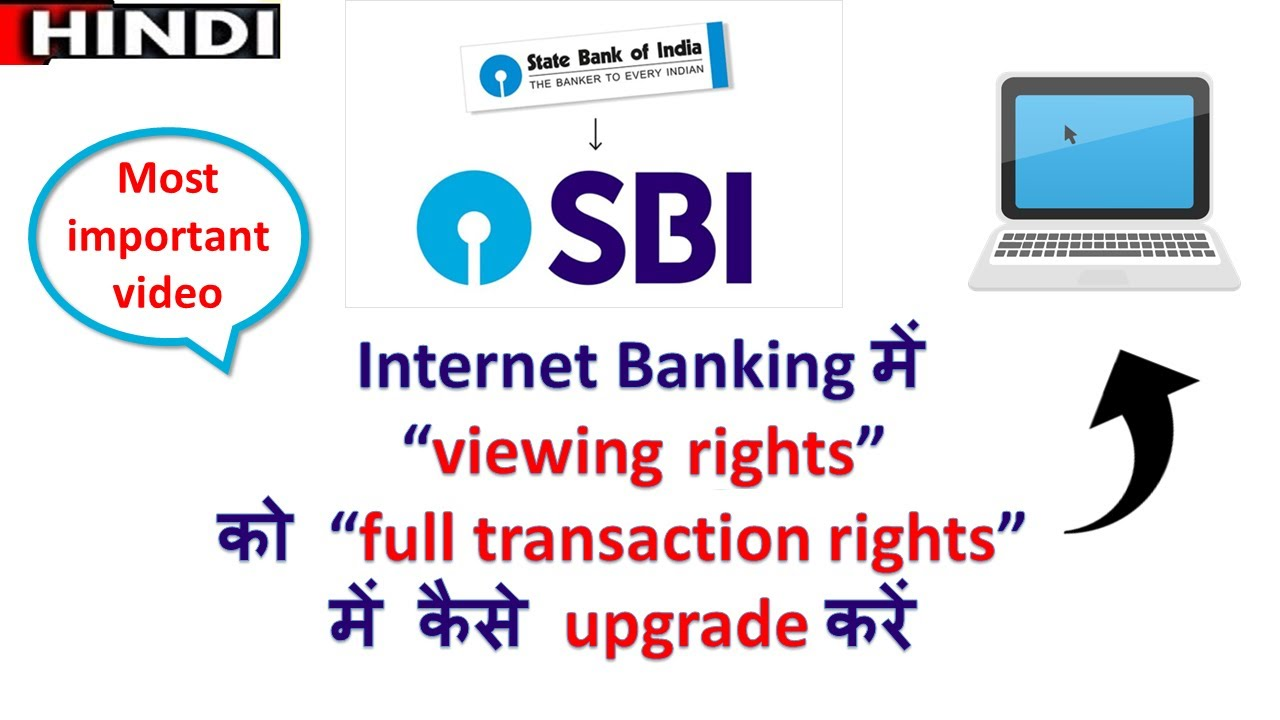 how to set full transaction rights in sbi internet banking