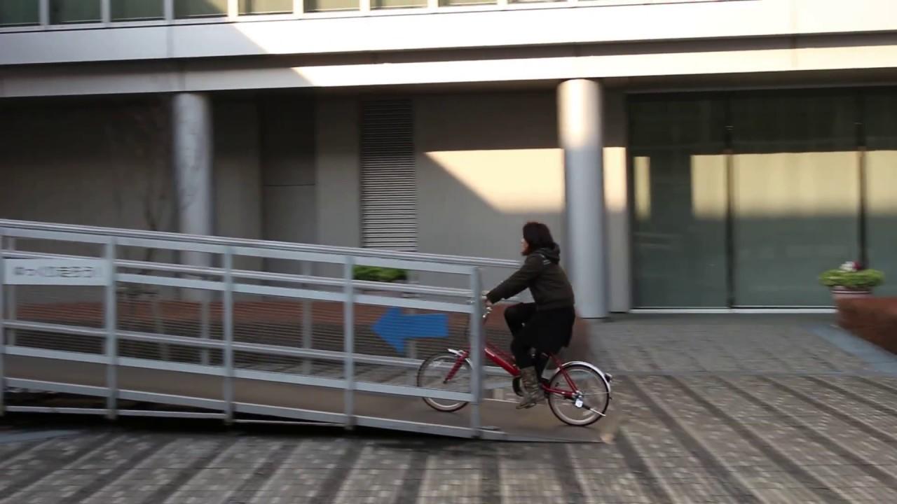 Jコンセプトの電動アシスト自転車で走行