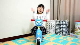 ╠ ☞♀╮Olivia╭♀☜ ╣4Y1M_美國 Creative Baby 國民版多功能滑板車/嚕嚕車_音樂展示篇