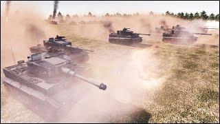 10 SUPER-HEAVY TORTOISE TANKS vs 50 TIGERS - Men of War Assault Squad 2 - Editor Scenario #80
