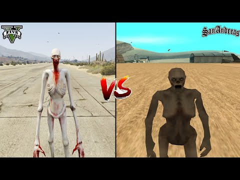 GTA 5 SCP-096 VS GTA SAN ANDREAS SCP-096 - WHICH IS BEST?
