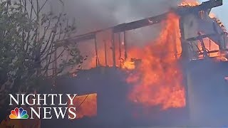 Massive L A  Wildfire Grows As Governor Declares State of Emergency | NBC Nightly News