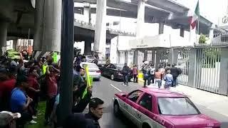 Manifestación por policías federales en  comisión nacional de los derechos humanos