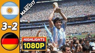 Аргентина ФРГ Германия 3 2 Обзор Матча Финал Чемпионата Мира 29 06 1986 HD