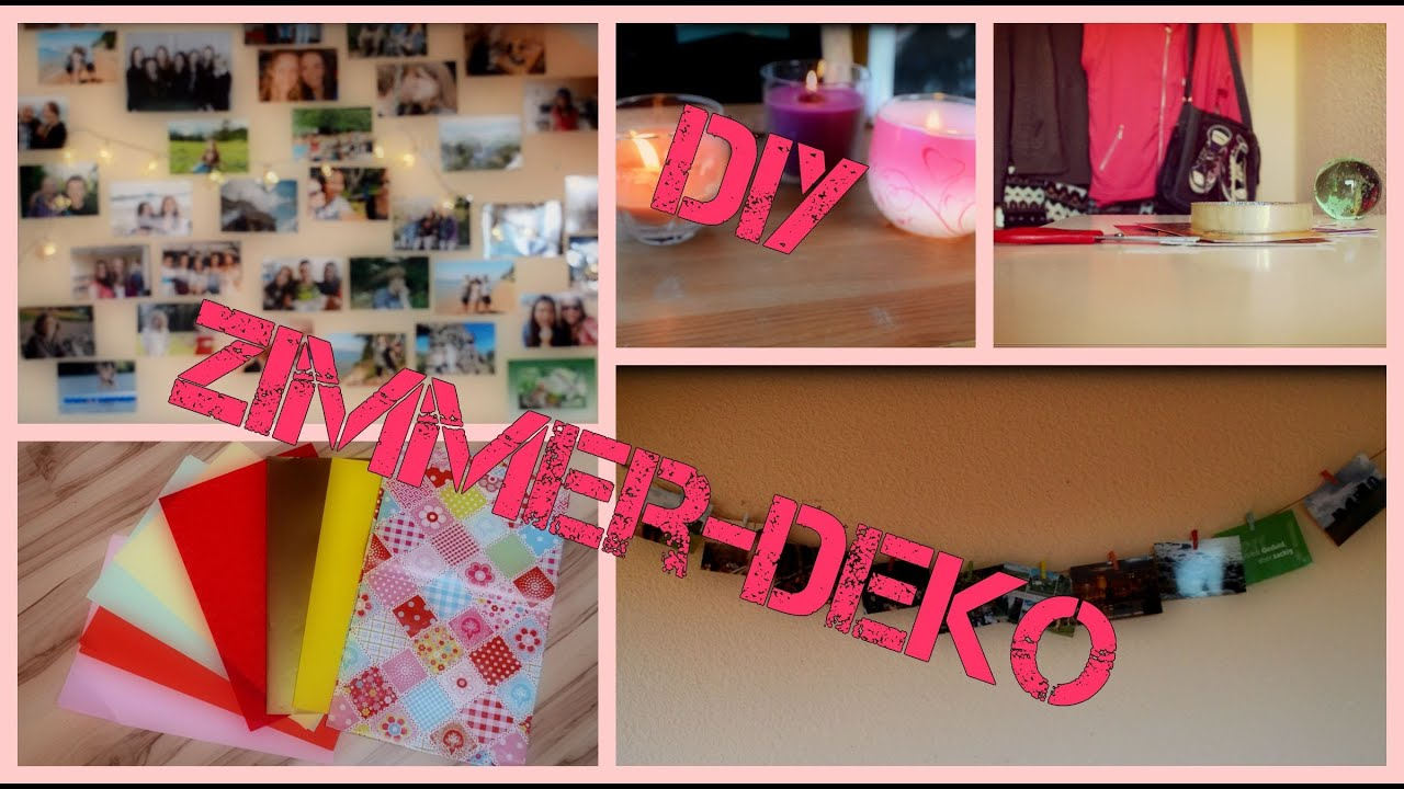 diy zimmer deko youtube. Black Bedroom Furniture Sets. Home Design Ideas