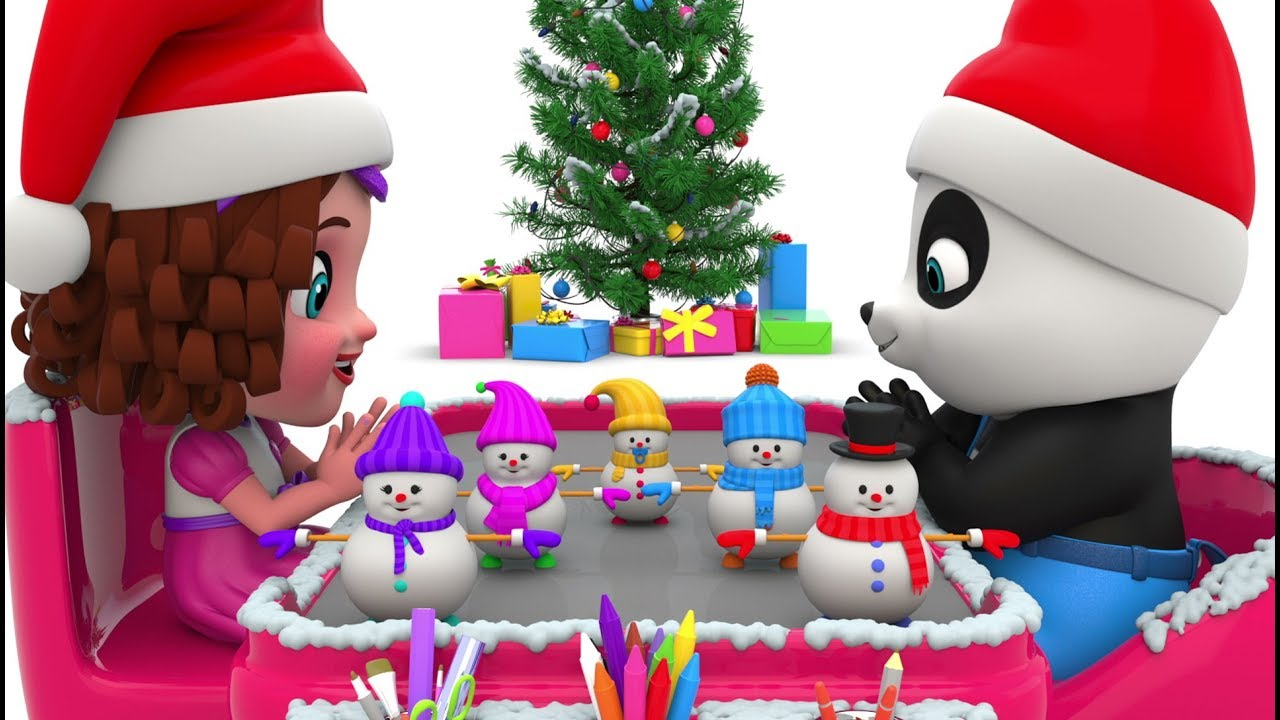 Decorating Snowman for Kids - Christmas Videos for Kids - YouTube