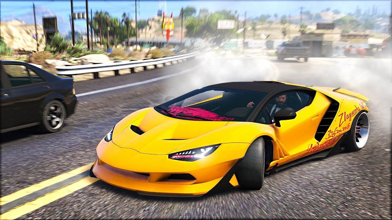 Insane Drift Lamborghini Centenario Widebody Gta 5 Drift Mod Youtube