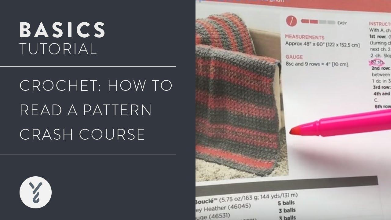 Crochet Read A Pattern Crash Course Youtube
