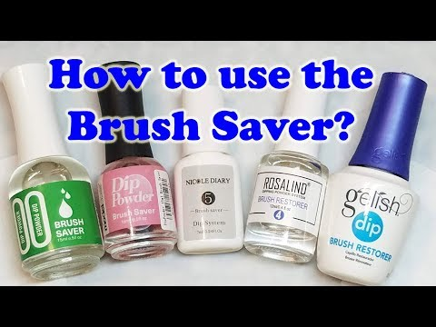 How to use the Brush Saver or Restorer from the dip powder system.